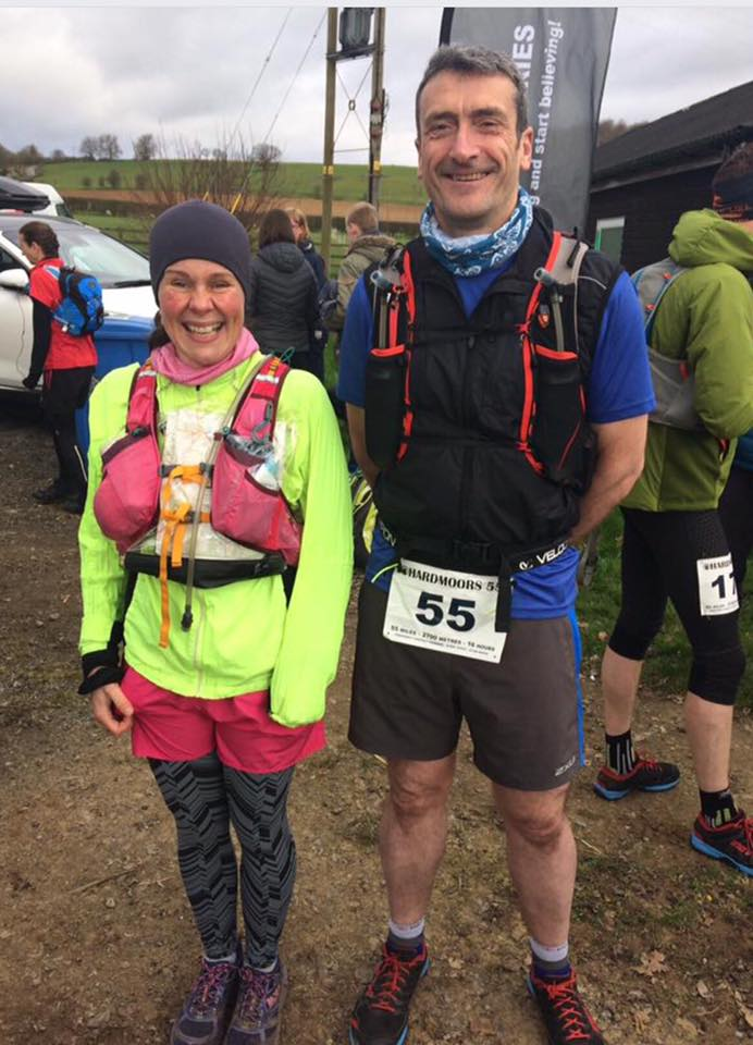 Philippa and Dave at the start